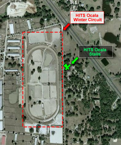 Map of HITS Ocala Winter Circuit and HITS Ocala Stalls